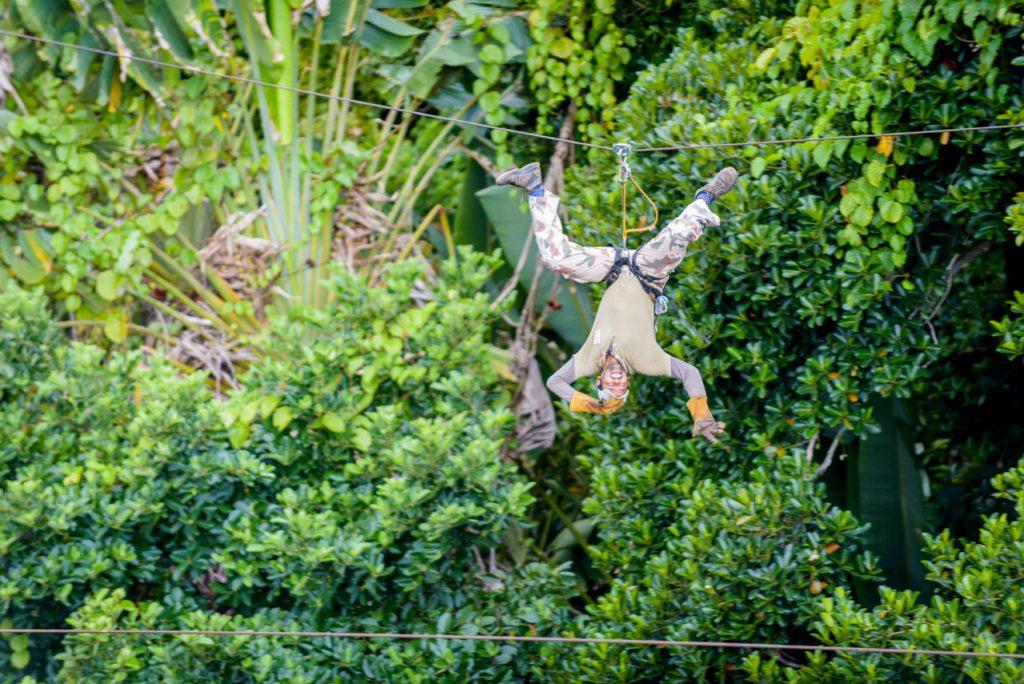 Zipline in Chamouny